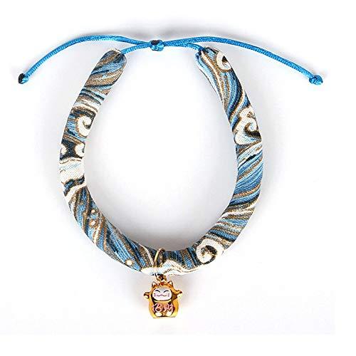 Hondenhalsband voor huisdieren, katten, handgemaakt, Japanse stijl, verstelbaar