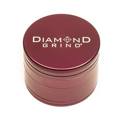 "Diamond Grind 4 Piece Aluminum Herb Grinder with screen 63mm (2.50"") PURPLE"