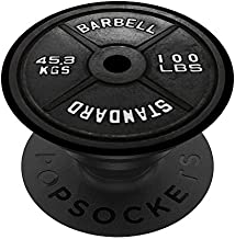 Weightlifting Plate Gym Barbell Weight Body Building PopSockets PopGrip: Swappable Grip for Phones & Tablets