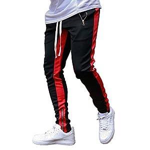 Fashion Shopping FLYFIREFLY Men's Gym Sport Pants Hip Hop Slim Fit Track Pants Workout Running Athletic Jogger Bottom
