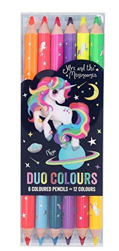 Depesche 6243 Duo Buntstifte im Ylvi & the Minimoomis Design, 6 Stifte mit je 2 Farben