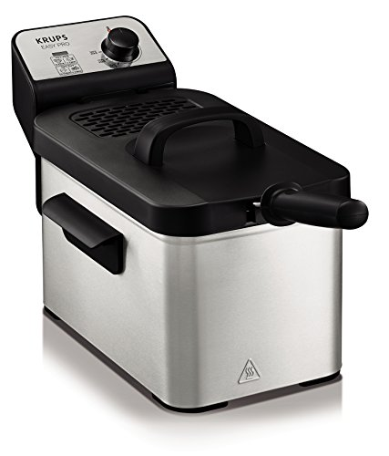 Krups KJ33 Easy Pro 2.5 L Deep-Fryer with Snack Accessory with Food Presets & Timer, Stainless Steel