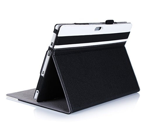Microsoft Surface 3 Case - ProCase Premium Folio Cover Case for Microsoft Surface 3 (10.8')(2015 Release), Built-in Stand with Multiple Viewing Angles, Exclusive for Surface 3 10.8 inch (White/Black)