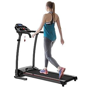 woman walking on a REDLIRO Folding Treadmill