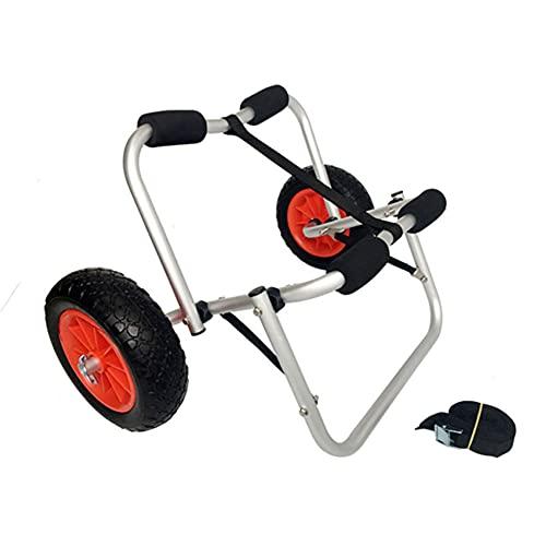 COSCANA Carrito De Kayak Kayak Trolley Portador Dolly Trailer para Barco De Canoa con Ruedas De Neumáticos Sin Aire, 200 Libras De Capacidad