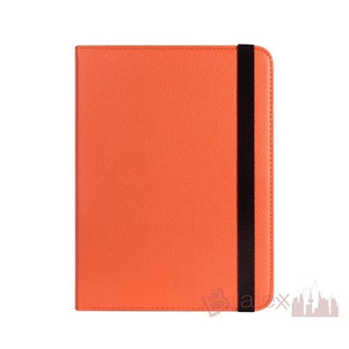BRALEXX Universal Rotation Tasche passend für ASUS MeMO Pad HD 8 (ME180A), 8 Zoll, Orange