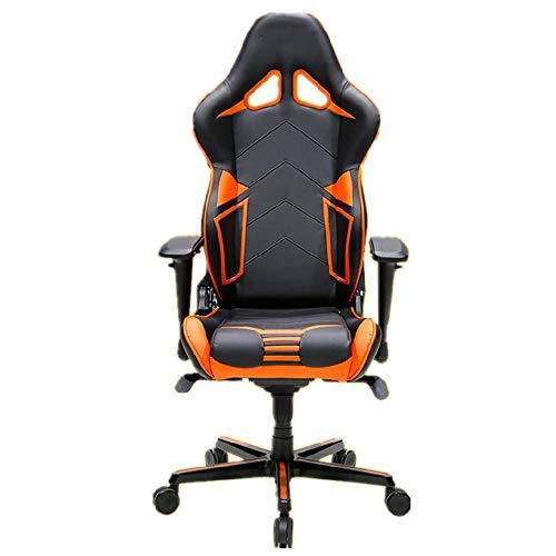 Gaming Chair High Back Racing Stil Executive-Computer-Spiel-Bürostuhl mit Verstellbarer Armlehne und Neigung Ergonomischer Bürostuhl (Color : Orange, Size