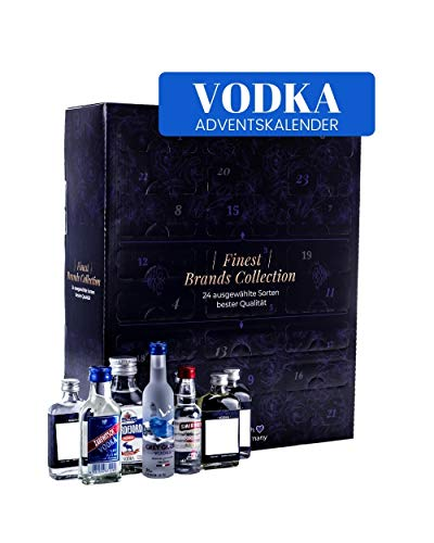 Vodka Adventskalender 2020 - Vodka Weltreise - 1 x 10 cl - 22 x-5 cl - 1 x 4 cl