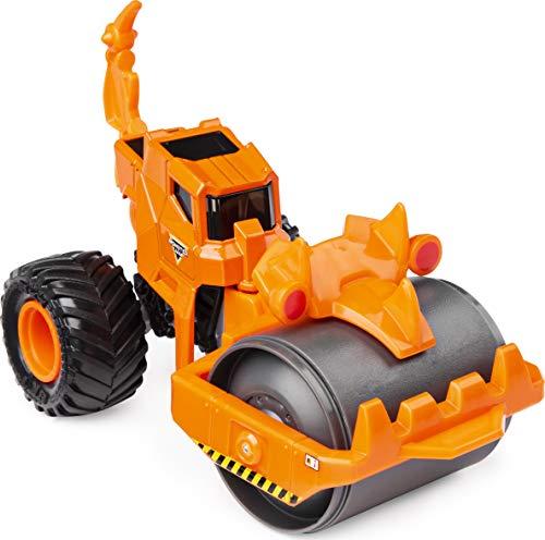 Monster Jam Offizieller Rolland Dirt Squad Steamroller Monster Truck mit beweglichen Teilen, Maßstab 1:64, Druckguss-Fahrzeug