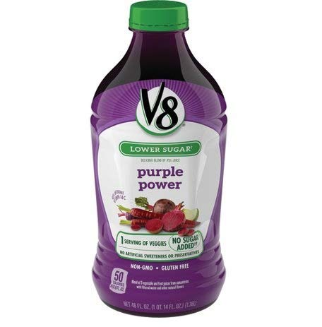 V8 Purple Power, 46 Ounce (Pack of 6) (Packaging May Vary)