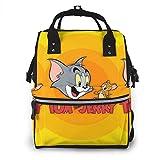 Mochila para pañales Happy Tom y Jerry multifunción impermeable mochila de viaje maternidad pañales cambiantes bolsas