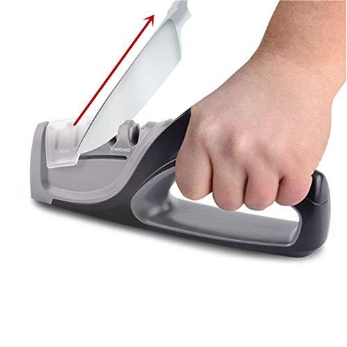 Nuoten - Afilador de cuchillos de cocina profesional con borde de precisión, 4 etapas, sistema afilado, cuchillos Amolador de Faca