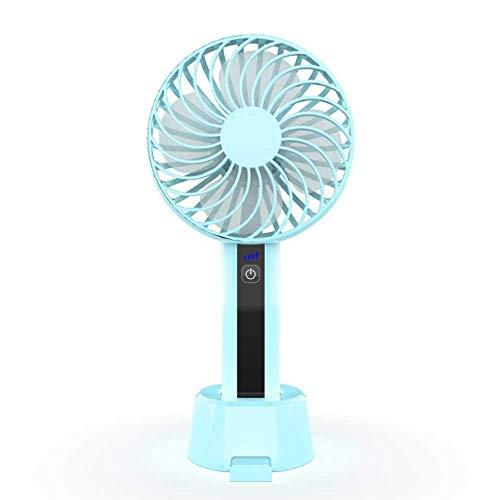 Cfbcc Mini Ventilador Portable de Mano del refrigerador del USB Aire Acondicionado Ventilador de Mano del Coche del USB del Ventilador de Viaje Plegable Recargable Mini Ventilador (Color : Blue)