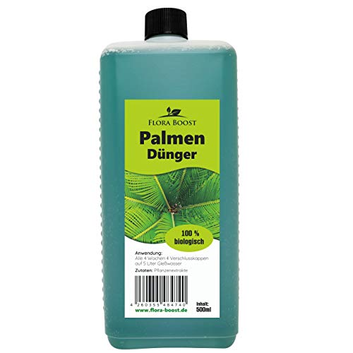 Palmendünger flüssig 500ml - bis zu 100 Liter Gießwasser - Kräftige Palmen - Pflanzenstärkungsmittel für Palmen
