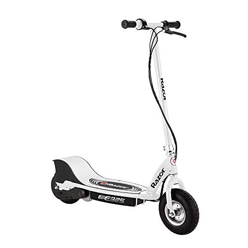 Razor E325 Durable Adult & Teen Ride-On 24V Motorized High-Torque Power Electric Scooter, Speeds up to 15 MPH with Brakes and Pneumatic Tires, White