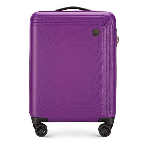 WITTCHEN Stabiele handbagage trolley koffer reiskoffer van Wittchen grijs ABS harde schaal trolley 4 rollen combinatieslot klein