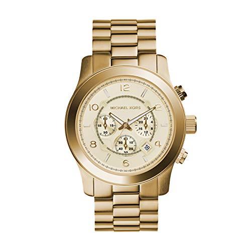 Michael Kors Herren Chronograph Quarz Uhr mit Edelstahl Armband MK8077