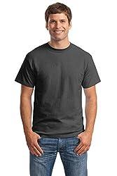top 10 shirt man dude Hanes short sleeve men's sweatshirt (2-piece set), dark gray heather, 4XLT