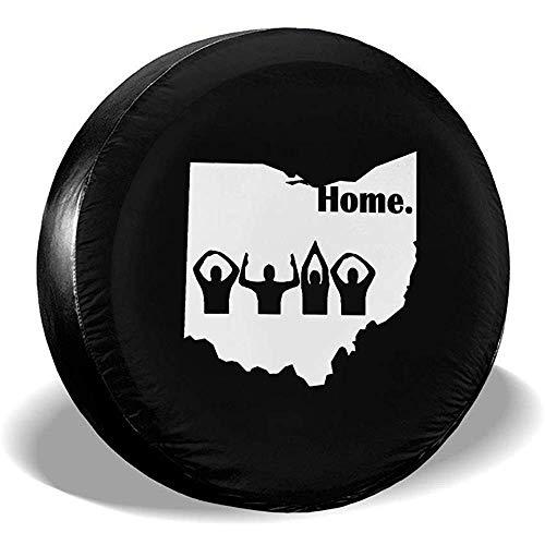 Du-shop Ohio Home State Edition Staubdicht wasserdichte Reifenabdeckung Reserverad Reifenabdeckung Passend