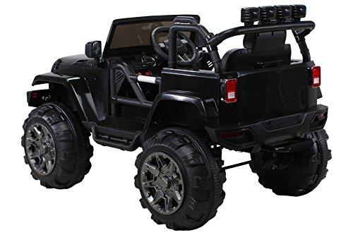 RC Auto kaufen Kinderauto Bild 6: Actionbikes Motors Kinder Elektroauto Offroad Jeep 2 x 35 Watt (Schwarz)*