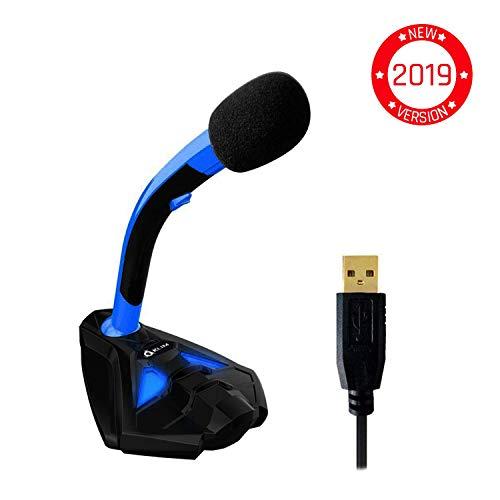 KLIM TMVoice Micrófono USB con Base para Ordenador - Micro de Escrito