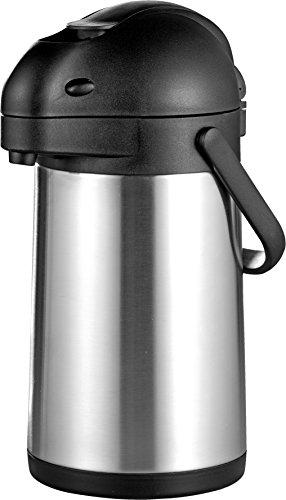 Esmeyer Pump-Isolierkanne Stream 1,9l, Edelstahl, schwarz/Silber, 17.5 x 17.5 x 34 cm