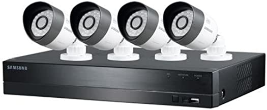 Samsung Techwin 4 Channel HD Security System, 1TB HDD, 4 720P Weatherproof Bullet Cameras, 82' Night Vision