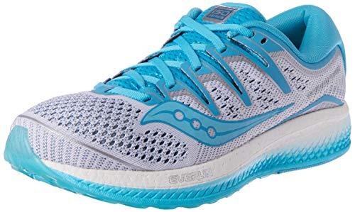 Saucony Triumph ISO 5 Neutralschuh Damen-Weiß, Blau, Zapatillas de Running Calzado Neutro para Mujer, White Blue, 37.5 EU