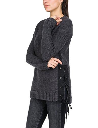 REPLAY Langarm Pulli suéter, Negro (Black 298), Large para Mujer