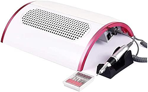 Elektrische Nagelboormachine-48W Nagelstofafscheider Met 3 Krachtige Ventilatoren Stofzuiger Voor Gelnagels Verwijder Poly Nail Gel,30000 RPM