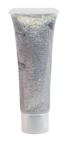 Eulenspiegel 907085 Effekt Glitzergel, silber, 18 ml