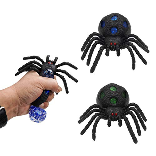 Qyhsmgs Squishy Toys for Kids Spider Animal Toys Gel Anxiety Relief Ball Sensory Relief Toys For Adults Funny Eye Popping Practical Jokes Stress Squeeze Tactile Squishies Calming Anxiety Gifts