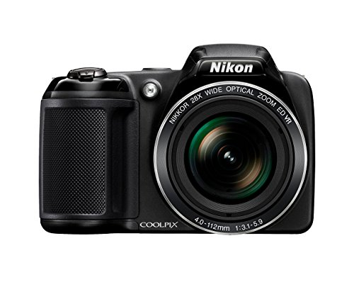 Nikon Coolpix L340 Digitalkamera (20,2 Megapixel, 28-Fach Opt. Zoom, 7,6 cm (3 Zoll) LCD-Display, USB 2.0, bildstabilisiert) schwarz