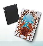 Funda para iPad 9,7 Pulgadas, 2018/2017 Modelo, 6ª / 5ª generación,Imagen de Garras de Conchas espirales de Cangrejo y Burbujas de Acuario de Coral Smart Leather Stand Cover with Auto Wake/Sleep
