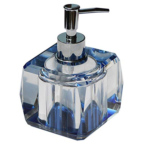 Zlw-shop Hochwertiger Seifenspender aus Kristallglas Home Bathroom Manual Lotion Soap Dispenser (Color : A)