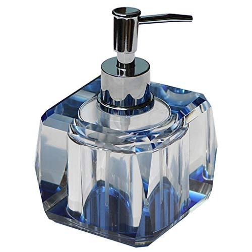 SHUTING2020 Küchenseifenspender Hochwertiger Seifenspender aus Kristallglas Home Bathroom Manual Lotion Soap Dispenser Flüssiger Handseifenspender (Color : A)