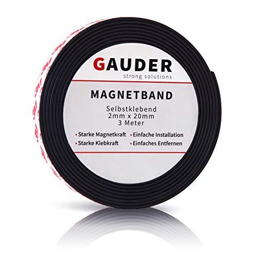GAUDER Magnetband stark selbstklebend I Magnetstreifen I Magnetklebeband
