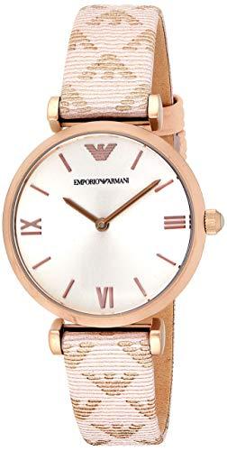 Fossil Damen Analog Quarz Smart Watch Armbanduhr mit Leder Armband AR11126