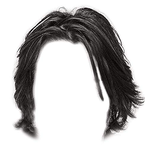 Wick Wig Cosplay Costume Men Black Hair Halloween Fancy Dress Accessories