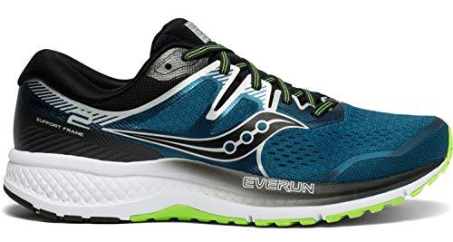 Saucony Men's Omni ISO 2 Running Shoe, Marine/Silver, 8 M US