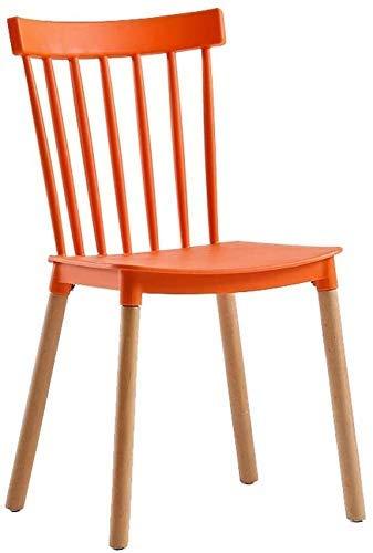 FHW Kunststoff Dining (2ps), Tea Shop/Faul/Büro/Konferenzraum, Massivholz (Farbe: weiß, Größe: 43x54x80CM) FACAI (Color : Orange, Size : 43x54x80CM)