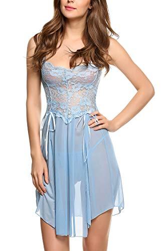 Avidlove-Women-Lace-Lingerie-Babydoll-Dress-Strap-Chemise-Sleepwear-Sexy-Nighty-S-XXL