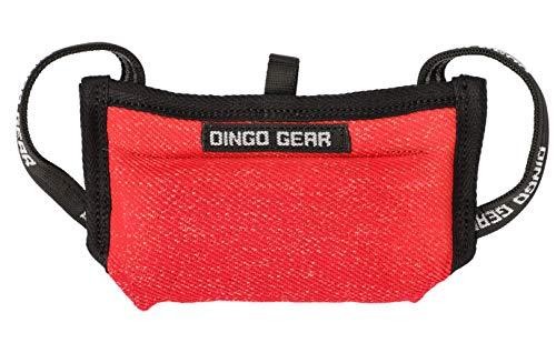 Dingo Gear Beißkissen Keilform Mini Weicher aus Baumwolle-Nylon Rot Welpen und Junge Hunde Ausbildung Hundetraining S00524