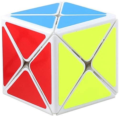 RENFEIYUAN ¡Nuevo Dino Irregular Creativo!Shengshou 8 Axis 3x3x3 ma Liso 3D, Juguete Educativo para niños y Adultos Rubik Cubo (Color : White)