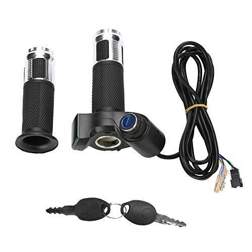 Manillar de Acelerador Eléctrico de 5 Cables de Velocidad, Puños de Acelerador...