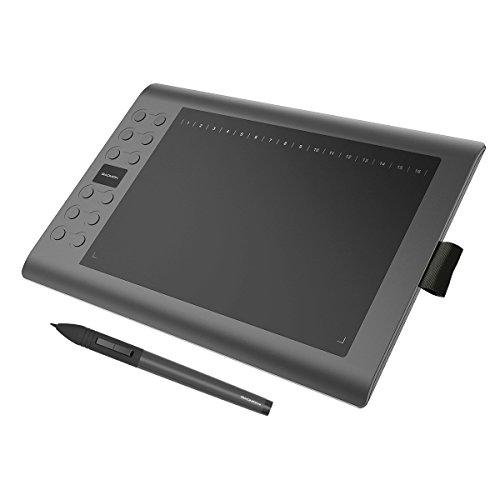 GAOMON M106K 10 x 6インチペンタブ 充電式ペンと12ショートカットキー付き Windows MAC対応 お絵描きペンタブレット