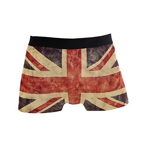 BONIPE JERECY Retro UK England Flag Boxershorts Herren Unterwäsche Jungen Stretch Atmungsaktiv Low Rise Trunks S Gr. X-Large, Mehrfarbig