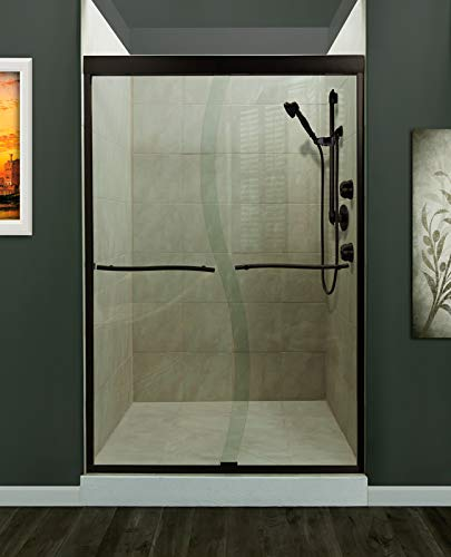 Miseno MSDS4872-OR Miseno MSDS4872 Suave 72' High x 48' Wide Framed Shower Door with Clear Glass and H2OFF Technology