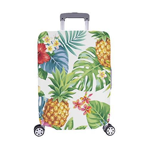 Tropical Piña Hojas de Palma Maleta de Viaje Spandex Protector de Equipaje Maleta de Viaje Cubierta 28.5 X 20.5 Inch