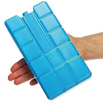com-four® 3X Batterie réfrigérante XXL en Bleu - Eléments réfrigérants pour glacière et Sac réfrigérant - Batteries réfrigérantes pour Le ménage et Les Loisirs
